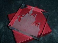 Walt Disney World Cinderella's Castle Etched Crystal Paperweight, RGC