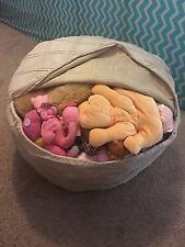Stuffed Animal Storage Bean Bag Chair Cover Navy Beige Red Orange Green Kids