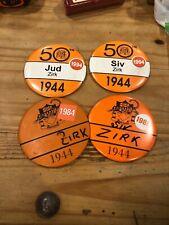 "Vintage Rare 50th Anniversary Princeton Univer Reunion Pins 1984 1989 1994 4x4"""