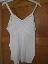 Ladies Pretty strap Lace and Bead top size 12 BNWT