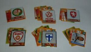 Panini Euro 2020 Stickers x71 all different and including 5 shinies