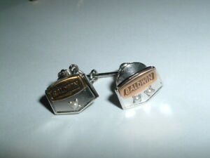 2 Vintage BALDWIN Seed Pearl 10K Gold Service Award Pins