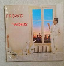 F-R David – Words Label: Carrere Vinyl LP, TOP Sammlerstück OVP Factory sealed