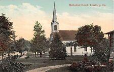 c.1910 Methodist Church Leesburg Fl post card