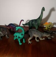Dinosaurs plastic toy figures triceratops brachiosaurus acrocanthosaurus