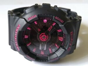 Casio Baby G Shock Black With Pink Accents 5338 Ba-111