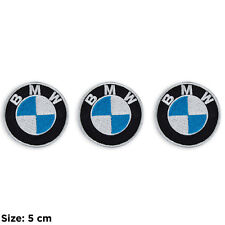 Toppe BMW moto stemma motorsport patch kit set 3 ricamate termoadesive