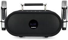 Minotaur Wireless Karaoke, Music, & Portable PA Bluetooth Speaker +2 Microphones