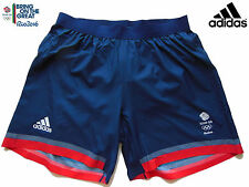 ADIDAS TEAM GB ISSUE RIO 2016 CLIMACHILL MICRO FIBRE COMPETITION SHORTS Size 30""