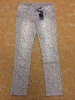 Damen Jeans Hose grau Leo Look Leopard Gr. 42 von Laura Scott 98% Baumwolle
