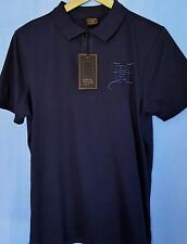 Ed Hardy New York City Polo Shirt-Bleu nuit Crâne Viper Eagle M Bnwt