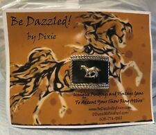 Be Dazzled Dixie Unique Findings and Vintage Gems Metal Leather Horse Magnet Pin