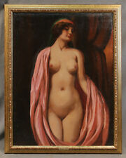 Oil Painting of Nude Woman signed Geza Farago (HUNGARIAN, 1877-1928)
