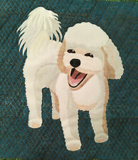 "Bichon Frise pattern 18x18"" quilted wall hanging or pillow"