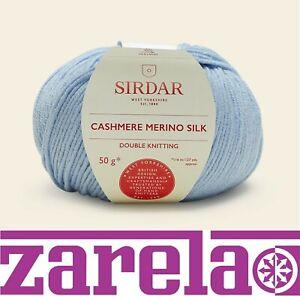 SIRDAR CASHMERE MERINO SILK DK Knitting Crochet - ALL COLOURS WOOL YARN
