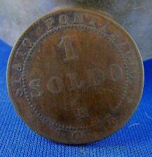 ancienne piece  monnaie italie 1 soldo 1867 R 17