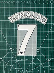 Ronaldo #7 Manchester United, Prem Nameset In White