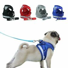 Dog Harness with Leash Summer Pet Adjustable Reflective Vest