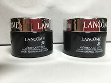 NEW LOT 2 Lancome GENIFIQUE Youth Activating Eye Concentrate EYE Cream .4oz/12ml