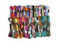 100 Anchor hilo de bordado de algodón sólida Madejas Hilo Dental Mejor Precio Y Color UK