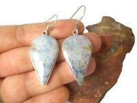 Ocean  JASPER   Sterling  Silver  925 Gemstone  EARRINGS  -  Gift Boxed