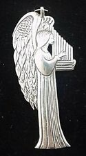 """Angel with Lute Sterling Christmas Ornament Hand and Hammer 2.5"""" High"""