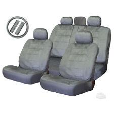 NEW FOR VW SEMI CUSTOM GREY VELOUR SEAT STEERING WHEEL COVERS FULL SET