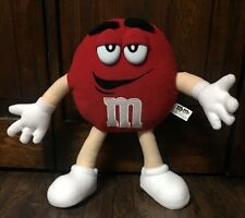 "Cute Large 13"" Red ""M & M"" Collectible Plush (Plastic Eyes) EUC"