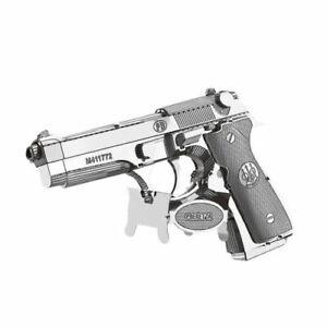 Metal Model Kit 3D Puzzle - Beretta 92 Pistol