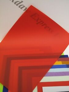 20 x Vellum Coloured Translucent Tracing Paper A4 100gsm Choice of 20 Colours