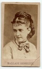 1860s Madeleine Henriques, American opera singer, actress CDV original photo old