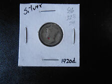 1920 D Mercury Silver Dime VF circulated #  86, You grade it!