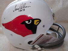 Larry Wilson signed T B Cardinals Custom F/S  helmet, JSA, HOF 78