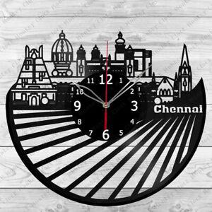 Vinyl Clock Chennai  Vinyl Record Wall Clock Home Art Decor Handmade 6181
