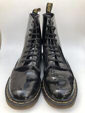 Dr Martens Ladies Men's Unisex UK5 Black Patent Lamper Leather Boots Doc Martens
