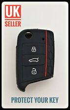 FOR VW Golf 7 MK7 Tiguan BLACK Silicone Key Cover Case Fob Cover Remote /-ca1a-/