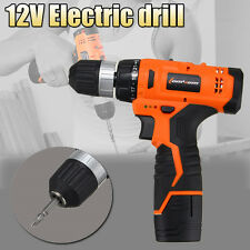 12V Electric Cordless Hammer Drill Driver Lithium Ion 0-1250R/MIN Speed Power