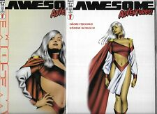 AWESOME ADVENTURES #1 SET OF 2 COVERS (FN/VF) ALAN MOORE
