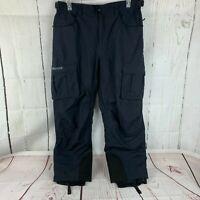 Marmot Men's Size Large Navy Blue Cargo Snow Ski Snowboard Pants Gaiters