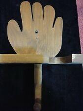 Wooden walnut Baseball Softball Glove Shaped Rack Ball, Bat, hat Sports holder