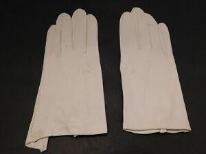 DESIGNER LADIES WHITE KID LEATHER DRESS GLOVES UNLINED SIZE 6