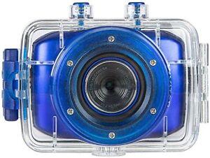 NEW Vivitar DVR781HD-SIL HD Action Cam, Blue Waterproof Free Shipping!