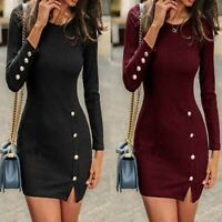 Short Dresses Long Sleeve Cocktail Dress Tight Party Summer Solid Evening