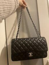 Real Leather Lamskin Black Bag