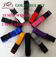 Golf Trolley webbing cart Laggauge fastening strap 25mm x 2mtr : pack of 2
