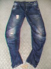 MENS G STAR 'ARC LOOSE TAPERED' JEANS SIZE 30