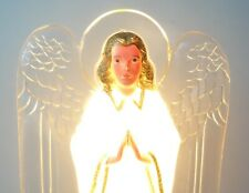 VINTAGE BLOW MOLD ANGEL CHRISTMAS TREE TOPPER ELECTRIC LIGHTED LIGHT UP FIGURE