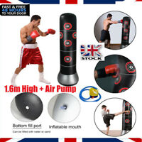 6FT Fitness Free Standing Boxing Punch Bag Pads Kick MMA Martial Training + Pump