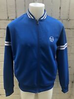 VINTAGE SERGIO TACCHINI Track Top Retro 80s Casual Jacket L Blue Casuals Terrace