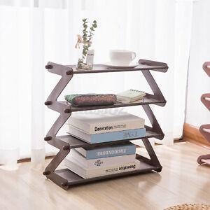 4 Tiers Shoe Rack Wall Tower Cabinet Storage Organizer Home Holder Steel Shelf